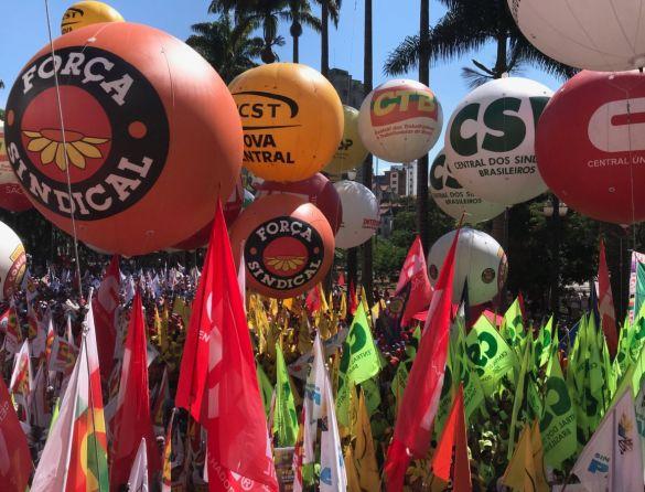 centrais sindicais 1º de maio